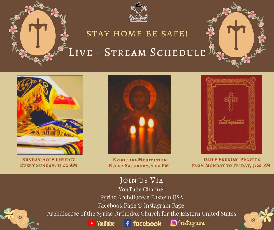 Syriac Orthodox Church streaming schedule