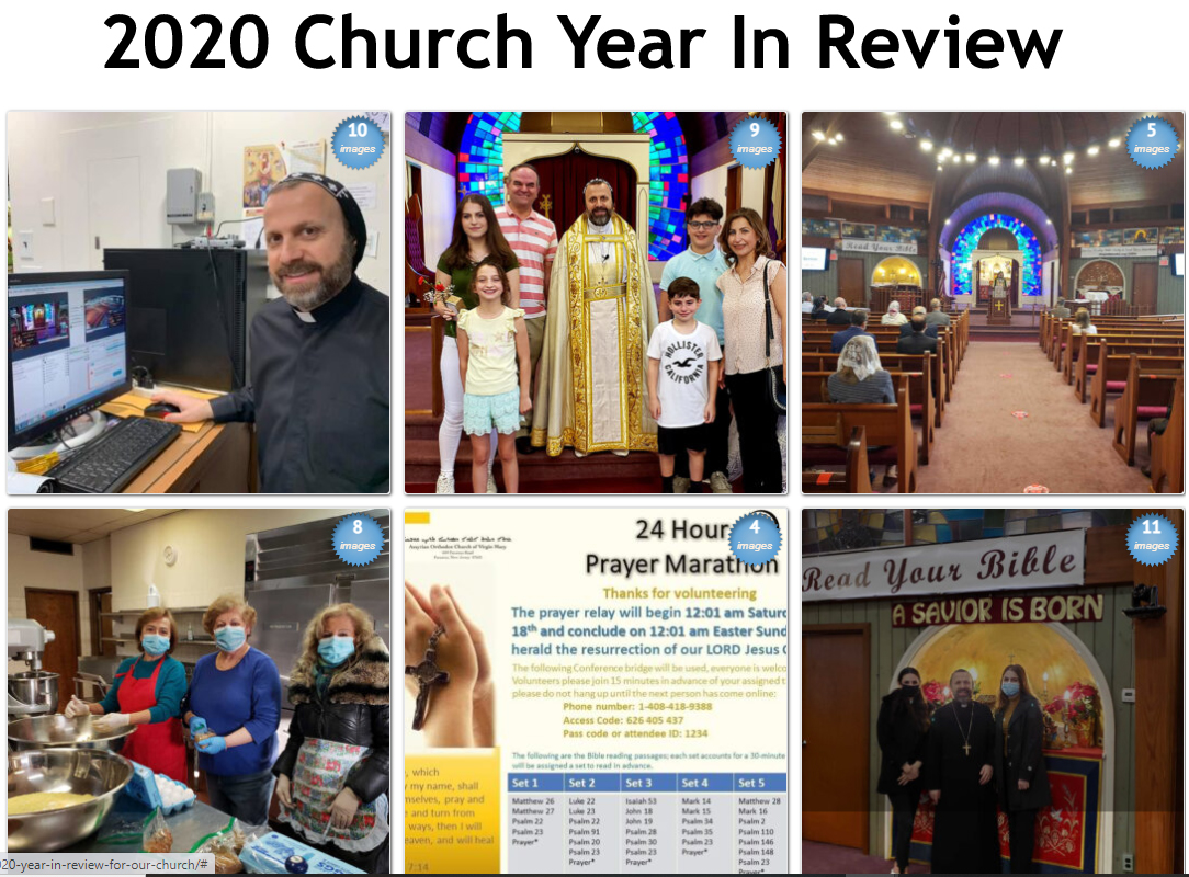 2020 Church Year In Review - Photo Gallery