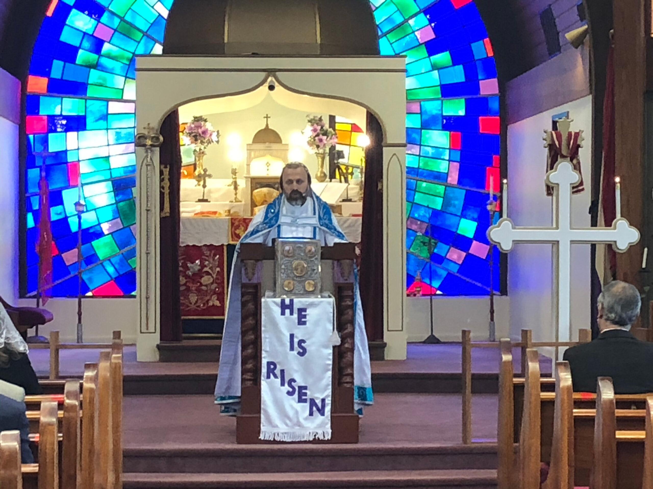 Jesus speaks to Peter